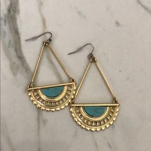 Lucky Turquoise Gold Boho Earrings